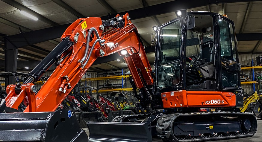 The newest Kubota KX060-5